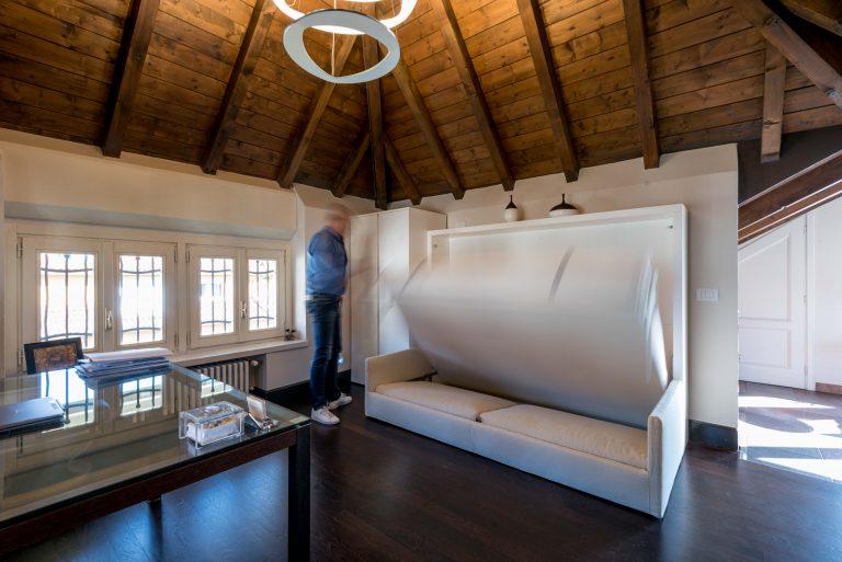 Elegant attic upper town bergamo italy with interior design bergamo - Interior design bergamo ...
